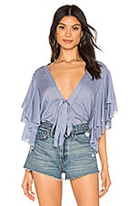Free People Call Me Later Bodysuit in Blue