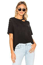 Free People Lucky Tee in Black