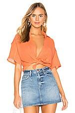 Free People Full Of Light Top in Light Orange