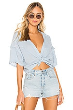 Free People Full Of Light Top in Light Blue