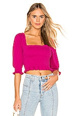 Free People Brenyce Top in Pink