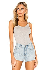 Free People B Side Bodysuit in Grey