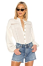 Free People Summer Stars Buttondown in Ivory