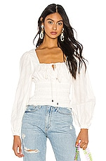Free People Lolita Top in White