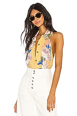 Free People Offshore Bodysuit in Yellow Combo