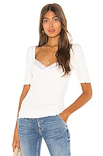 Free People Margaux Top in White