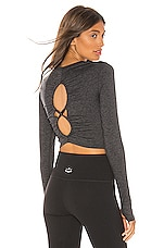 Free People X FP Movement Swerve Long Sleeve Layer in Carbon