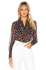 Free People Flowers In December Blouse in Black