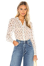 Free People Flowers In December Blouse in Ivory
