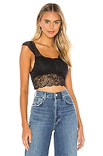 Free People Chase Me Lace Brami in Black