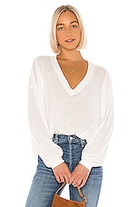 Free People Buffy Tee in White