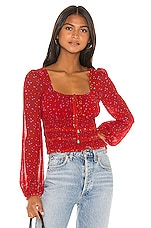 Free People Lolita Top in Red