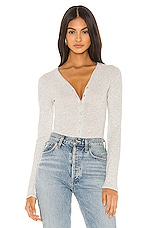 Free People Keep Your Cool Bodysuit in Grey