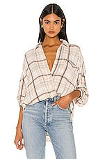 Free People Hidden Valley Buttondown in Ivory