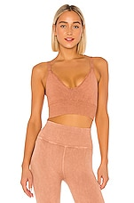 Free People X FP Movement Good Karma Crop Top in Sand
