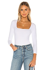 Free People Truth Or Square Bodysuit in White