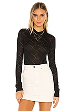 Free People What's The Pointelle Bodysuit in Black