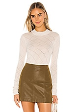 Free People What's The Pointelle Bodysuit in Ivory