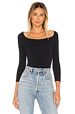 Free People Square Neck Tee in Black