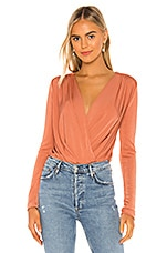 Free People Turnt Bodysuit in Copper