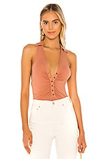Free People Coco Solid Tank in Cinnamon