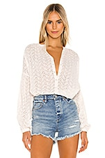 Free People Maddison Eyelet Blouse in Ivory