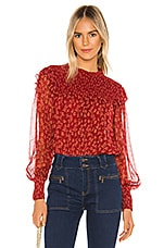 Free People Roma Blouse in Red