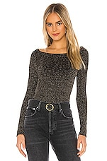 Free People Sprinkled In Gold Bodysuit in Black Combo