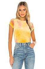 Free People Bright Eyes Tee in Yellow Combo