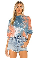 Free People Be Free Tie Dye Tee in Blue Combo