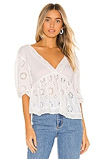 Free People Sweeter Side Blouse in White