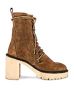 Free People Dylan Lace Up Boot in Taupe