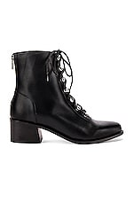 Free People Eberly Lace Up Boot in Black