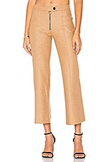 Wool Crop Pant in Camel