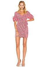 FAME AND PARTNERS x REVOLVE Russo Wrap Dress in Red Gingham