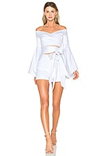 FAME AND PARTNERS X REVOLVE Chiara Romper Set in White