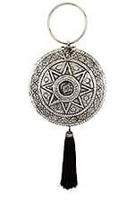From St Xavier Celestial Tassel Bag in Silver & Black