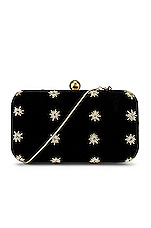 From St Xavier North Star Box Clutch in Black & Gold