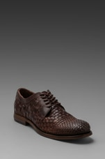 Manny Woven Oxford in Dark Brown