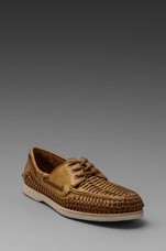 Sully Woven Boat Shoe in Tan