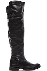 Shirley Over The Knee Flat Boot in Black
