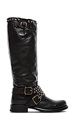 Jenna Studded Tall Boot in Black