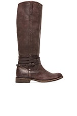 Shirley Riding Plate Boot in Dark Brown