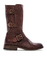 Jayden Moto Cuff Boot in Dark Brown