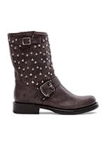 Jenna Cut Stud Short Boot in Charcoal