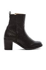 Janis Gore Short Boot in Black