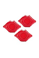 FUNBOY Lip Inflatable Drink Holder Set Of 3 in Red