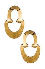 Gaviria Large LSD Earrings in Gold