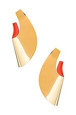 Gaviria Small Anish Earrings in Peach