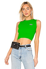 GCDS Fluorescent Logo Top in Green
